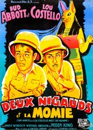 Abbott and Costello Meet the Mummy - French Movie Poster (xs thumbnail)