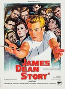 The James Dean Story - French Re-release poster (xs thumbnail)