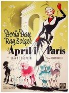 April in Paris - Danish Movie Poster (xs thumbnail)