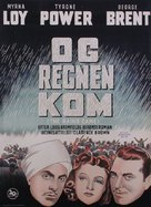 The Rains Came - Danish Movie Poster (xs thumbnail)