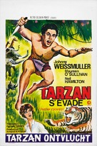 Tarzan Escapes - Belgian Re-release poster (xs thumbnail)