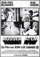 À bout de souffle - German Movie Poster (xs thumbnail)