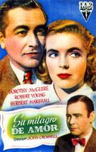 The Enchanted Cottage - Spanish Movie Poster (xs thumbnail)
