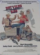 Smokey and the Bandit - Danish Movie Poster (xs thumbnail)