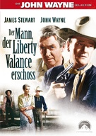 The Man Who Shot Liberty Valance - German DVD cover (xs thumbnail)