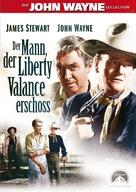The Man Who Shot Liberty Valance - German DVD movie cover (xs thumbnail)
