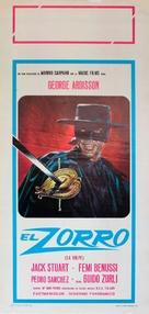 El Zorro - Italian Movie Poster (xs thumbnail)