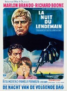 The Night of the Following Day - Belgian Movie Poster (xs thumbnail)
