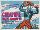 The Creature Walks Among Us - British Movie Poster (xs thumbnail)