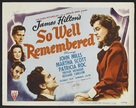 So Well Remembered - Movie Poster (xs thumbnail)