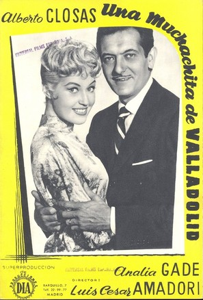 Una muchachita de Valladolid - Spanish Movie Poster (thumbnail)