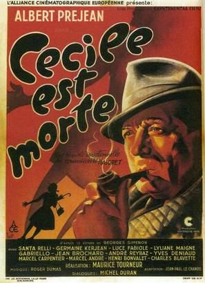 Cècile est morte! - French Movie Poster (thumbnail)