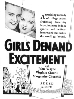 Girls Demand Excitement