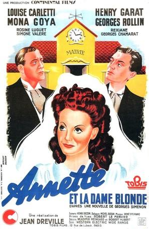 Annette et la dame blonde - French Movie Poster (thumbnail)