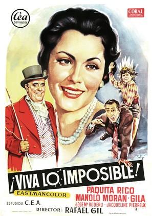 ¡Viva lo imposible! - Spanish Movie Poster (thumbnail)