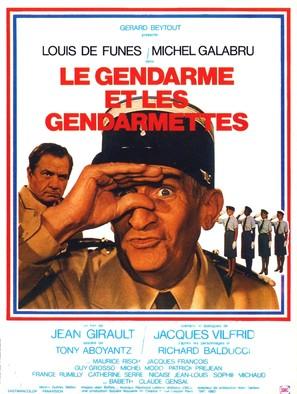Gendarme et les gendarmettes, Le - French Movie Poster (thumbnail)