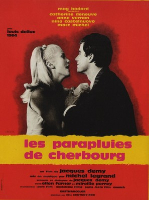 Les parapluies de Cherbourg - French Movie Poster (thumbnail)