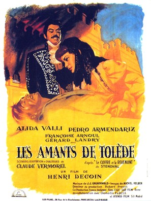 Les amants de Tolède - French Movie Poster (thumbnail)