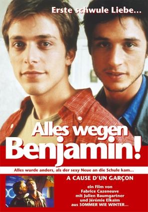À cause d'un garçon - German Movie Poster (thumbnail)