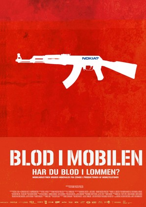 Blood in the Mobile - Danish Movie Poster (thumbnail)