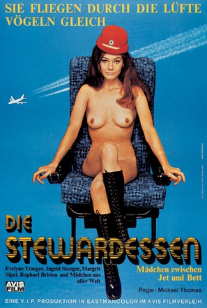 Die stewardessen - German Movie Poster (thumbnail)
