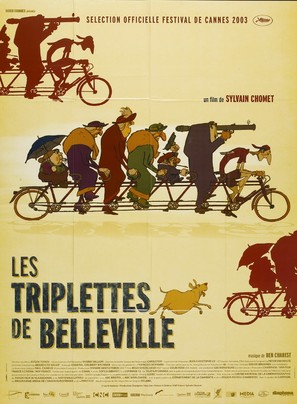 Les triplettes de Belleville - French Movie Poster (thumbnail)