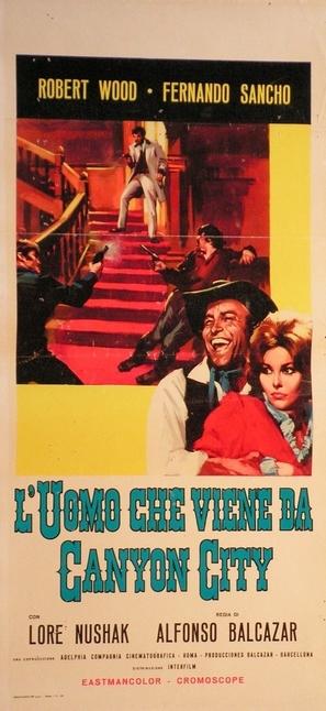 Uomo che viene da Canyon City, L' - Italian Movie Poster (thumbnail)