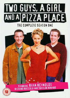 """Two Guys, a Girl and a Pizza Place"" - British DVD cover (thumbnail)"