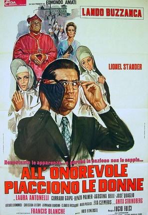 All'onorevole piacciono le donne (Nonostante le apparenze... e purché la nazione non lo sappia) - Italian Movie Poster (thumbnail)