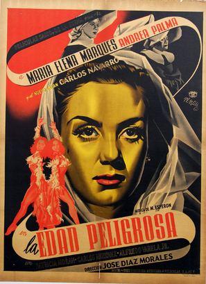 La edad peligrosa - Mexican Movie Poster (thumbnail)