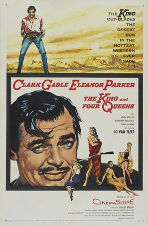 The King and Four Queens - Movie Poster (thumbnail)