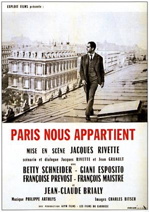 Paris nous appartient - French Movie Poster (thumbnail)