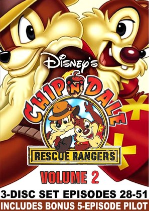 """""""Chip 'n Dale Rescue Rangers"""" - DVD movie cover (thumbnail)"""