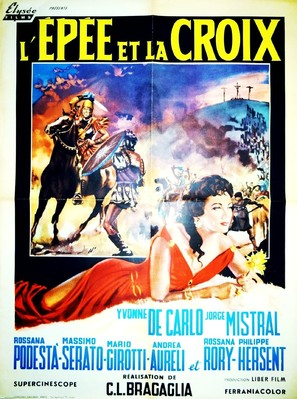 La spada e la croce - French Movie Poster (thumbnail)