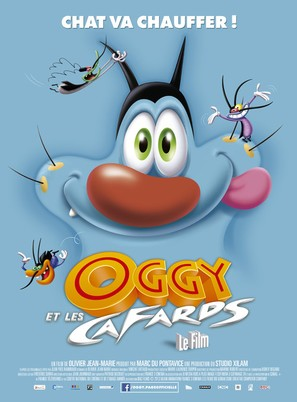 Oggy et les cafards - French Movie Poster (thumbnail)