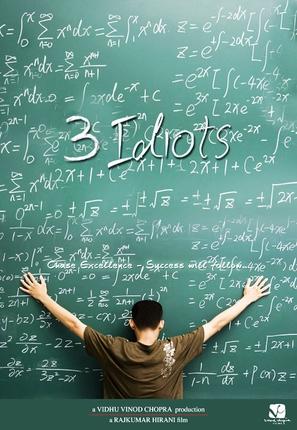 Three Idiots - Indian Movie Poster (thumbnail)