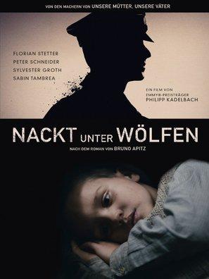 Nackt unter Wölfen - German Movie Poster (thumbnail)