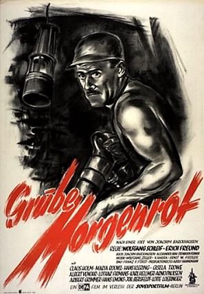 Grube Morgenrot - German Movie Poster (thumbnail)
