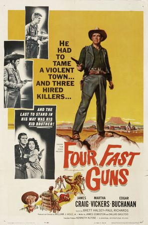 Four Fast Guns - Movie Poster (thumbnail)