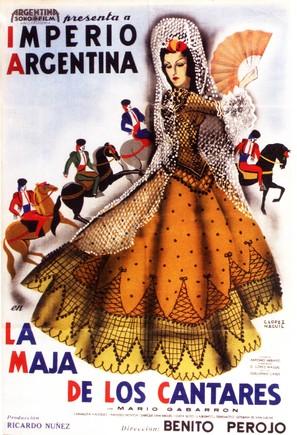 La maja de los cantares - Argentinian Movie Poster (thumbnail)