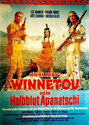 Winnetou und das Halbblut Apanatschi - German Movie Poster (thumbnail)