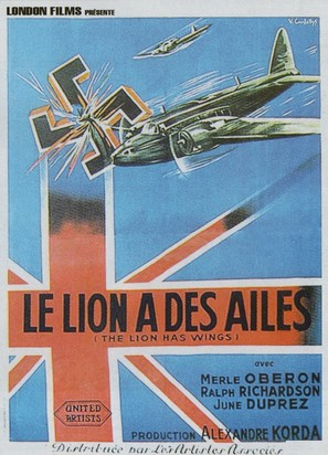The Lion Has Wings - French Movie Poster (thumbnail)