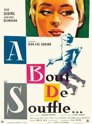 À bout de souffle - French Movie Poster (thumbnail)