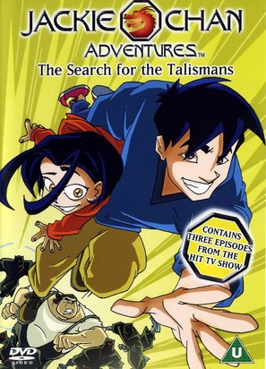 """""""Jackie Chan Adventures"""" - British DVD movie cover (thumbnail)"""