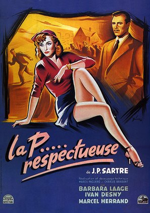 La putain respectueuse - French Movie Poster (thumbnail)