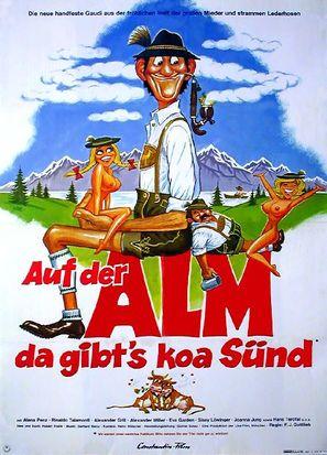 Auf der Alm, da gibt's koa Sünd' - German Movie Poster (thumbnail)