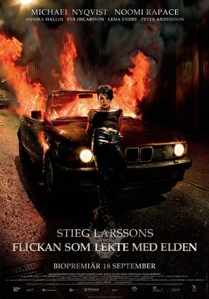 Flickan som lekte med elden - Swedish Movie Poster (thumbnail)
