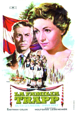 Die Trapp-Familie - Spanish Movie Poster (thumbnail)