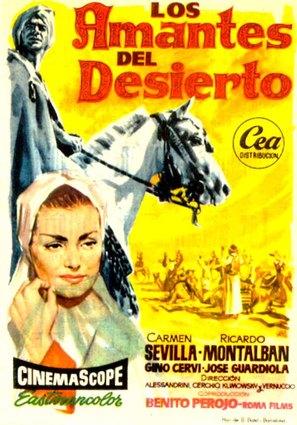 Amantes del desierto, Los - Spanish Movie Poster (thumbnail)
