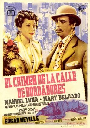 Crimen de la calle de Bordadores, El - Spanish Movie Poster (thumbnail)